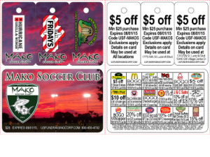 $20 USFundraising 3 tab Soccer Discount Card