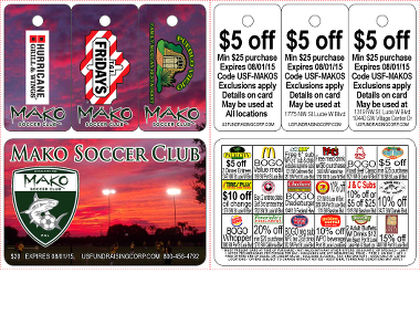 $20 Soccer Fundraising Discount Card