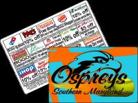 $10 Fastpitch softball fundraiser cards