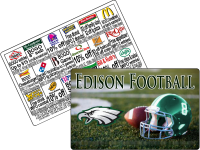 $15 High School football discount card fundraiser